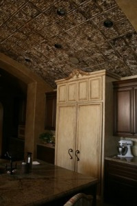 Kitchen with a barell ceiling hand painted by James Storey of Spiritus - The Art of Faux