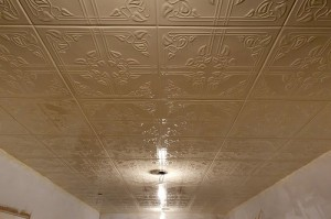 Ivy tiles painted and on the ceiling