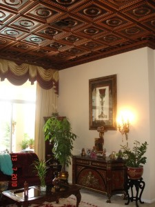 Antique Copper Decorative Ceiling Tiles add a touch of elegance