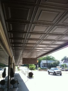 Hermann Furniture Outdoor Ceiling Tile Installation