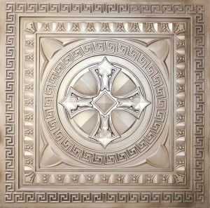 Faux Tin Ceiling Tile - Antique White