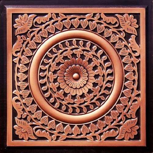 211 Faux Tin Ceiling Tile in Antique Copper