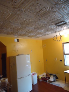 Craig Strangland's Kitchen; ceiling tile installation tips and tricks