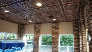 223 La Scala Antique Copper Ceiling in Forested Room