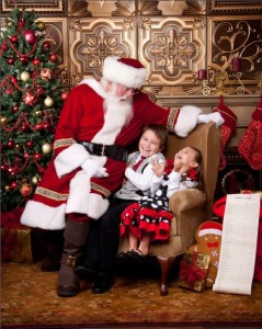 Christmas Photo Backdrop with Santa Claus from Carlton Hubbard Photography