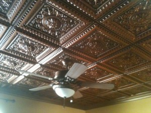 223 La Scala Antique Copper Ceiling in Temecula Guest Room