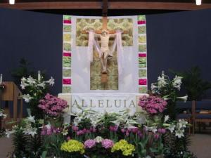 Gold and Pastels Altar Decor