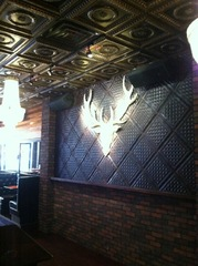 Stunning Wall Panel Created With Decorative Ceiling Tiles